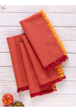 April Cornell April Cornell Chambray RedOrange Napkin Set of 4