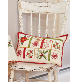 April Cornell Christmas Sampler Embroidered Cushion