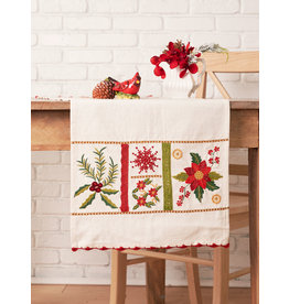 April Cornell Christmas Sampler Embroidered Runner