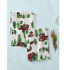 April Cornell Christmas Village Tea Towel