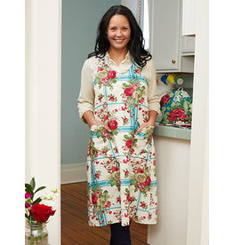 April Cornell Cornwall Cottage Teal Apron