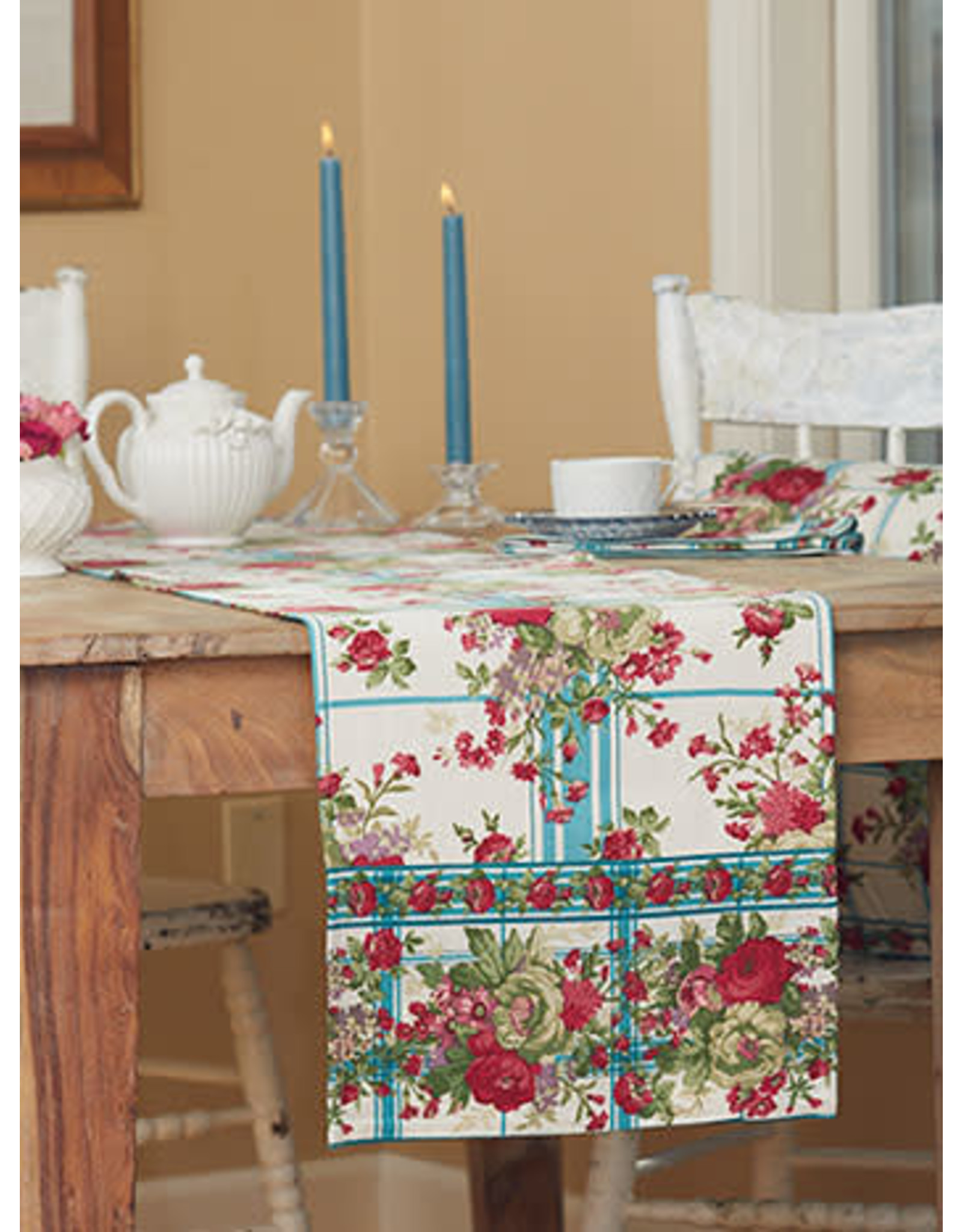 April Cornell April Cornell Cornwall Cottage Runner Teal 13x72