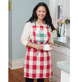 April Cornell Cottage Check Red/Green Apron