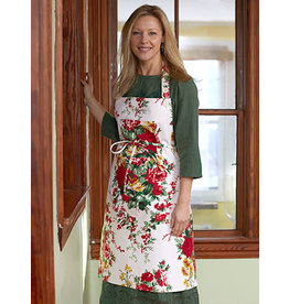 April Cornell Cottage Rose EcruChristmas Apron
