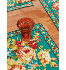 April Cornell Cottage Rose Teal Placemat