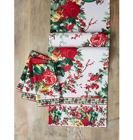 April Cornell Cottage Rose EcruChristmas 13x72 Runner