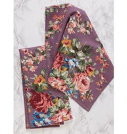 April Cornell Cottage Rose Amethyst Tea Towel