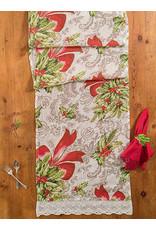 April Cornell April Cornell Deck the Holly Linen Runner 18x90