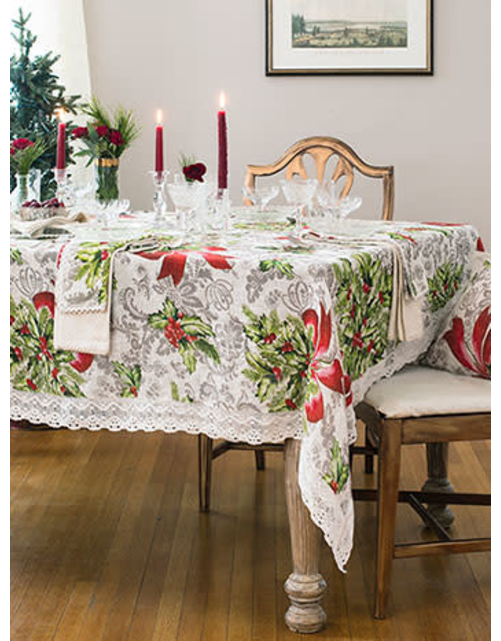 April Cornell April Cornell Deck the Holly Tablecloth 54x54