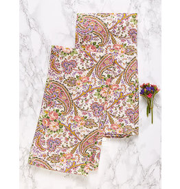 April Cornell Garden Paisley Ecru Tea Towel