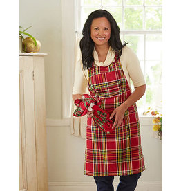 April Cornell Fireside Tartan Plaid Apron