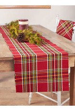April Cornell April Cornell Fireside Tartan Plaid Red Runner 13x72