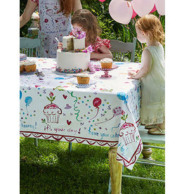 April Cornell Happy Birthday 54x54 Square Tablecloth