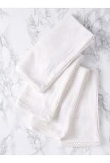 April Cornell April Cornell Ivory Luxurious Linen Jacquard Napkins Set Of 4