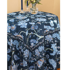 April Cornell Jacobean Garden Navy 54x54 Square Tablecloth