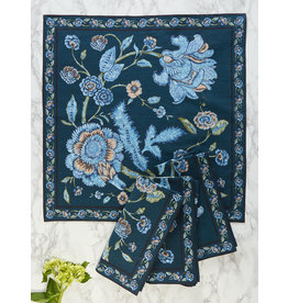 April Cornell Jacobean Garden Navy Napkins Set/4