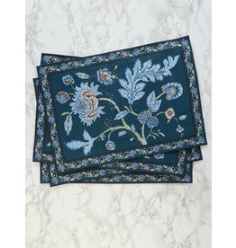April Cornell Jacobean Garden Navy Placemat