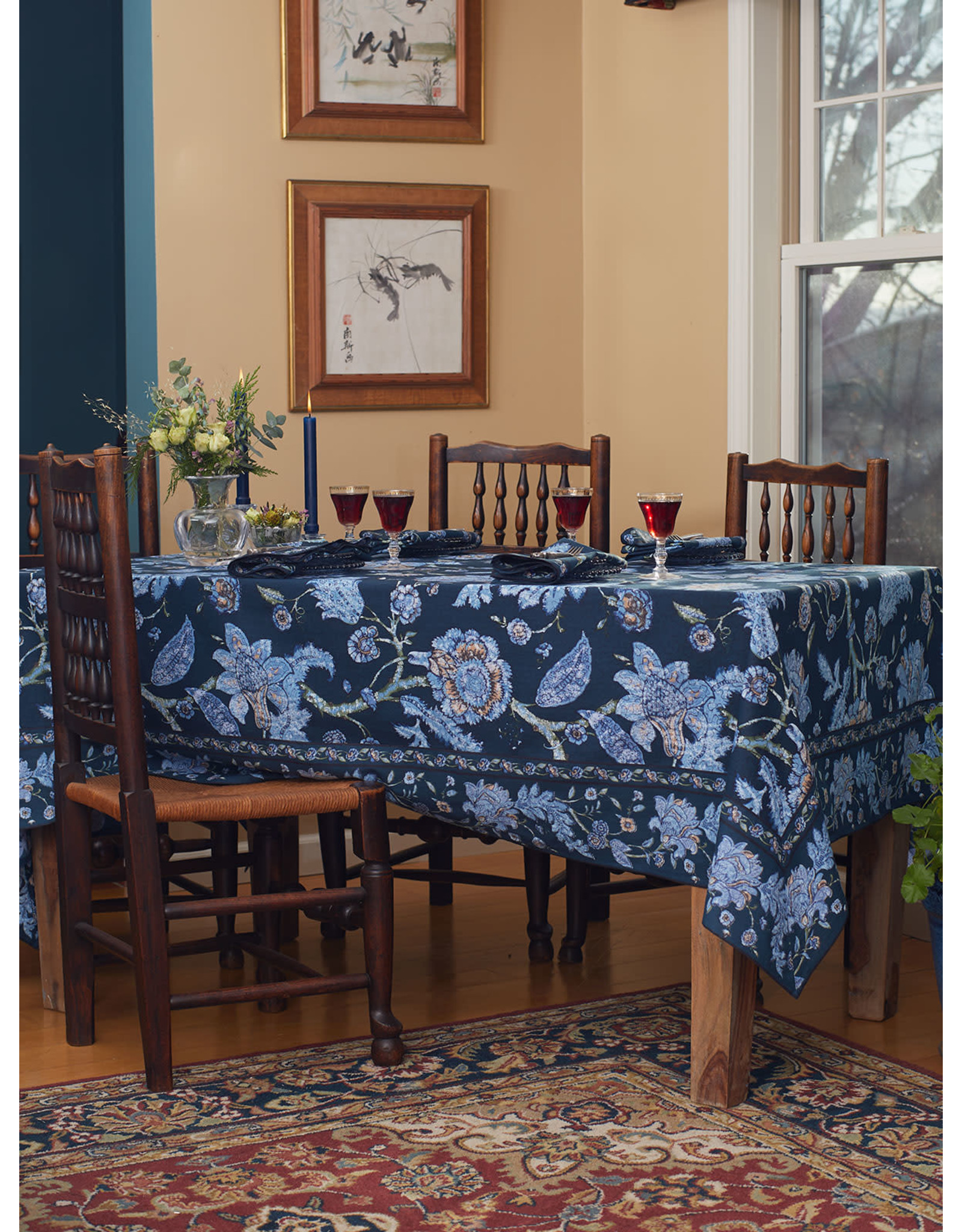 April Cornell April Cornell Jacobean Garden Table Cloth 60x90