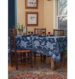April Cornell Jacobean Garden Navy 60x90 Tablecloth