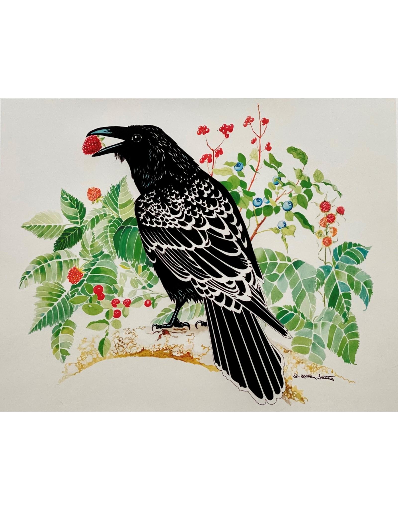 """Alice Tersteeg Alice Tersteeg """"Raven Loves Berries"""" art print"""
