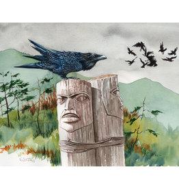 "Alice Tersteeg Alice Tersteeg ""Raven Totem"" art print"