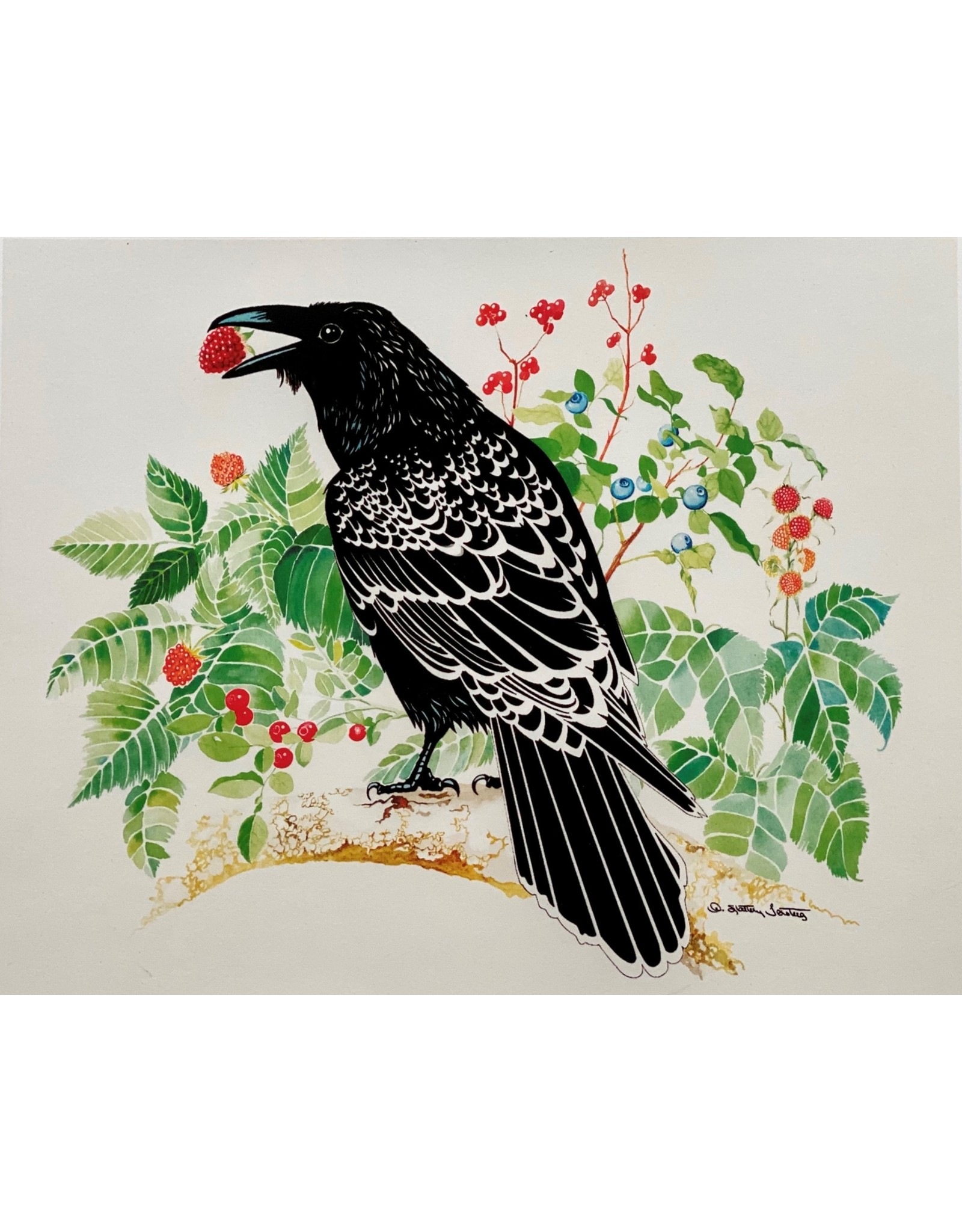 "Alice Tersteeg ""Ravens Love Berries"" Alice Tersteeg art card"