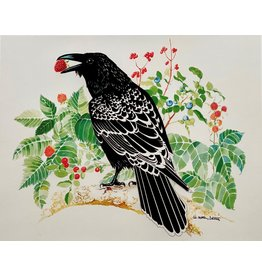 "Alice Tersteeg ""Raven Loves Berries"" Alice Tersteeg art card"