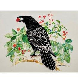 Alice Tersteeg Raven Loves Berries (art card)