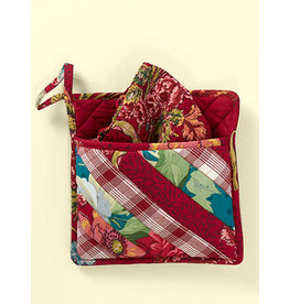 April Cornell Jewel Patchwork Pocket Potholder