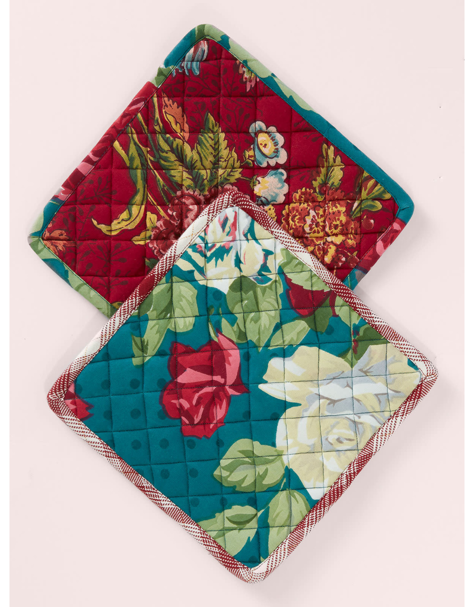 April Cornell April Cornell Jewel Patchwork Potholder Set of 2