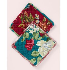 April Cornell Jewel Patchwork Potholder Set/2