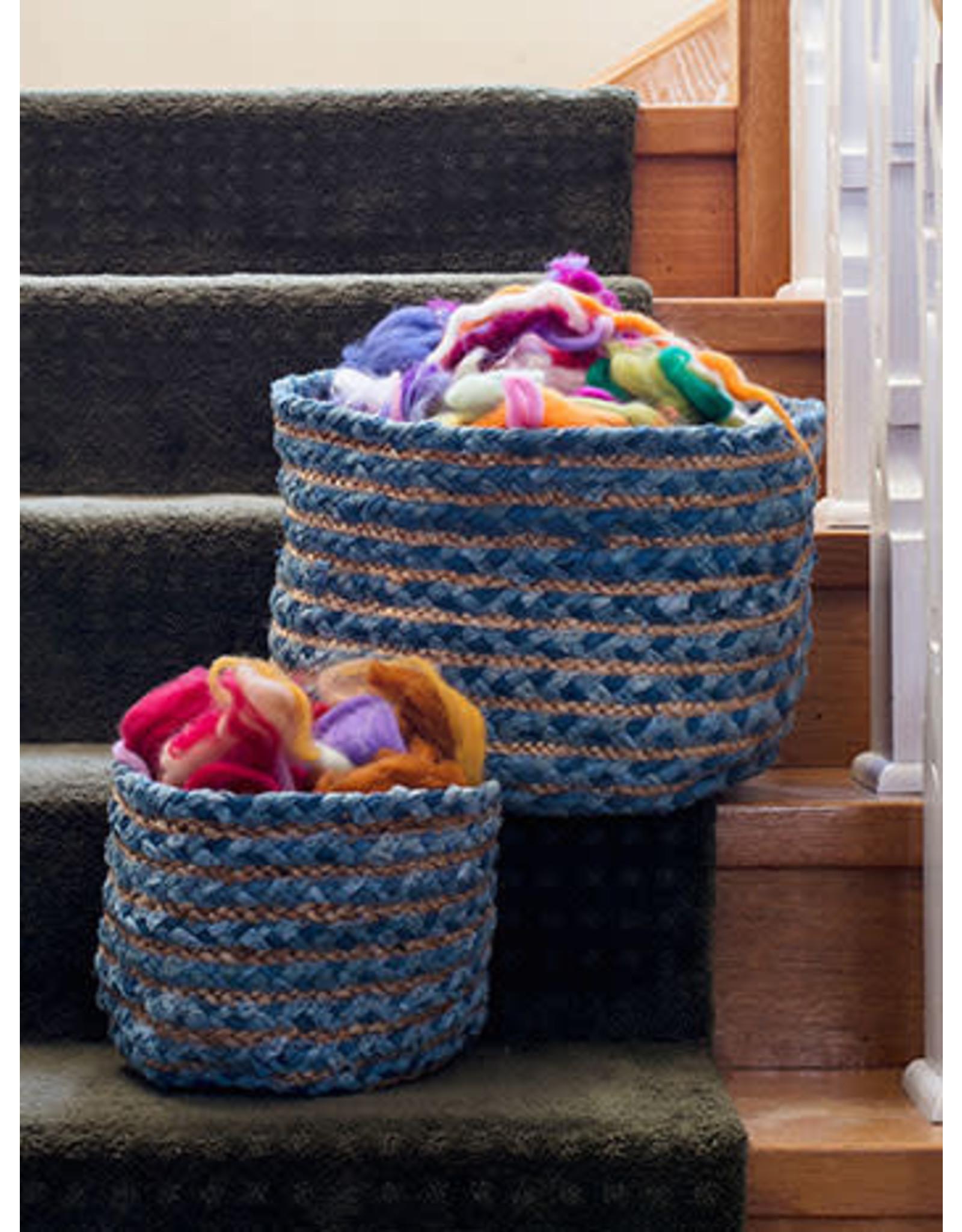 April Cornell April Cornell Manana Basket Blue Set of 2