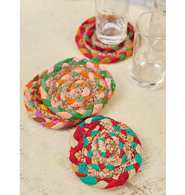 April Cornell Manana MultiBright Braid Coaster Set/4