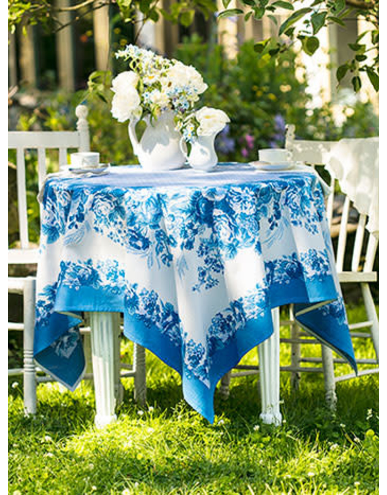 April Cornell April Cornell Marion Blue Tablecloth 54x54