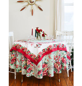 April Cornell Marion Red 54x54 Square Tablecloth