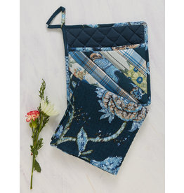 April Cornell Midnight Patchwork Pocket Potholder