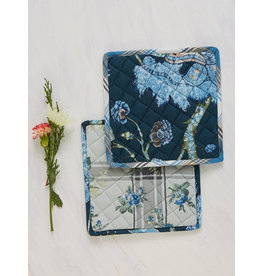 April Cornell Midnight Patchwork Potholder Set/2