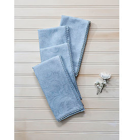 April Cornell Luxurious Linen Jacquard Mist Napkins Set/4
