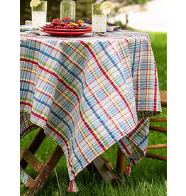 April Cornell Picnic Seersucker 54x54 Square Tablecloth