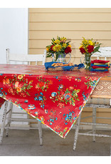 April Cornell April Cornell Red Artist Garden 52x52 Oilcloth