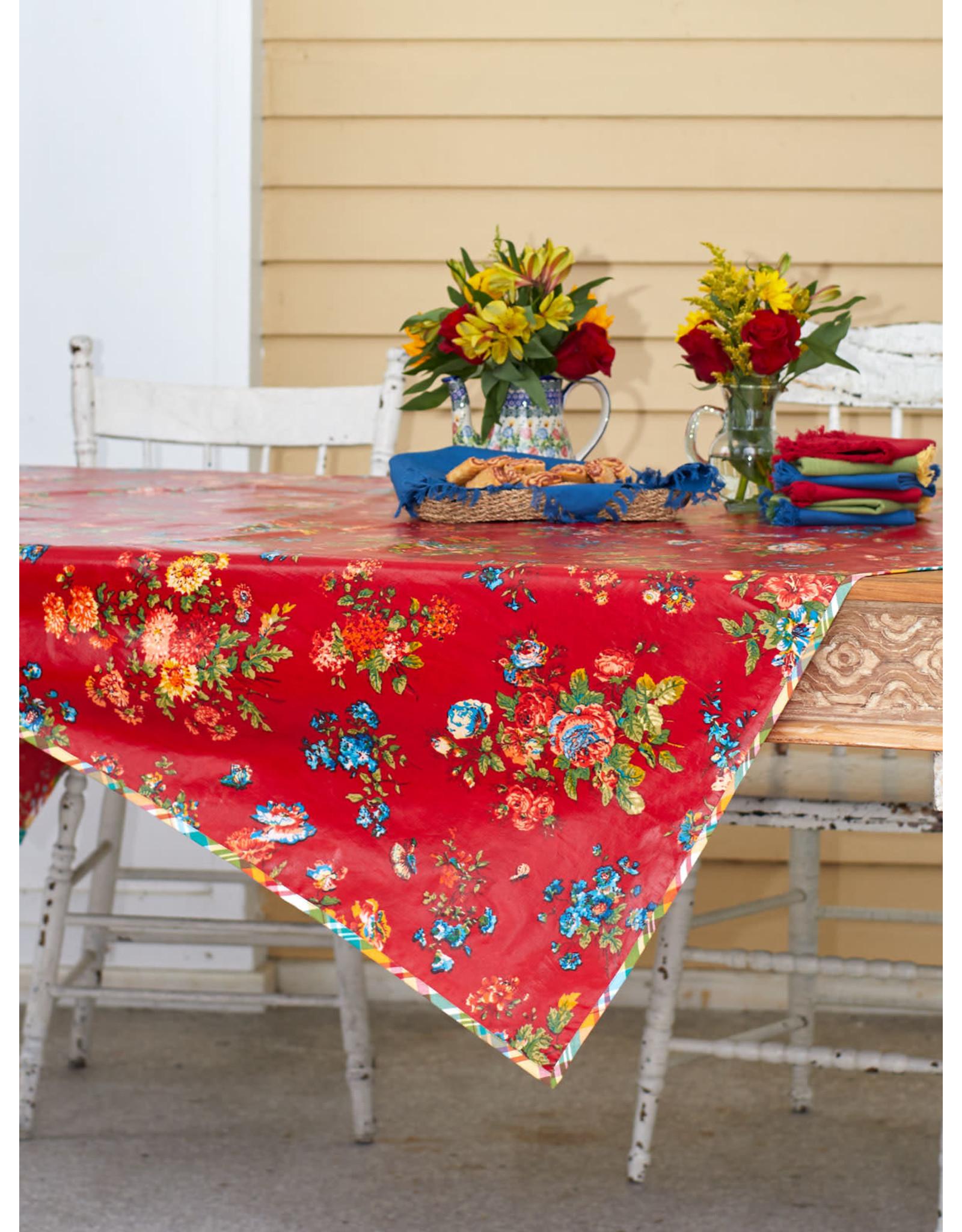 April Cornell April Cornell Red Artist Garden 52x72 Oilcloth