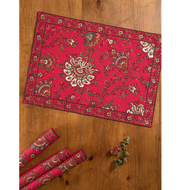 April Cornell Placemat (empress paisley red)