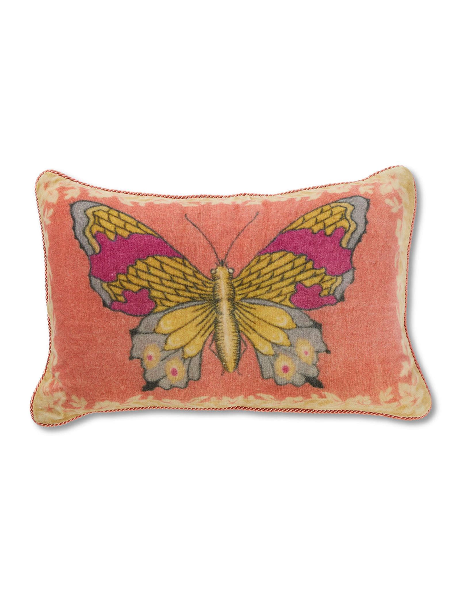 April Cornell Velvet Cushion (mariposa rose)   April Cornell