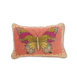 April Cornell Velvet Cushion (mariposa rose)