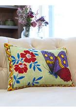 April Cornell Velvet Cushion (mariposa sage) | April Cornell