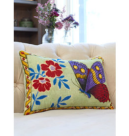 April Cornell Mariposa Sage Velvet Cushion