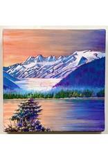 "Alice Tersteeg Alice Tersteeg ""Glacier Sunset"" Original"