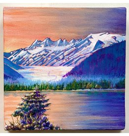 "Alice Tersteeg Alice Tersteeg ""Glacier Sunset"" Original"