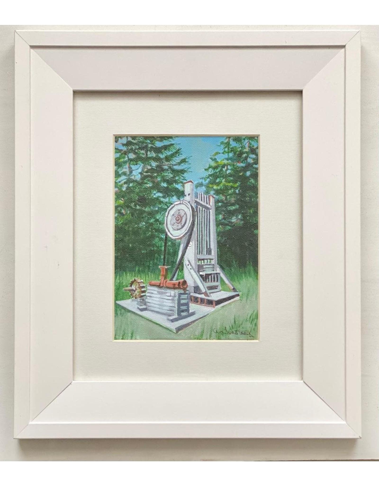 "Alice Tersteeg Alice Tersteeg ""Gold Stamp"" Original framed"