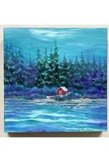 """Alice Tersteeg Alice Tersteeg """"Little Red Cabin"""" Original"""